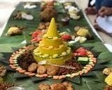 Nasi kuning Tumpeng langkah memasak 13 foto