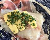 Haddock wrapped in Parma ham with sage and butter