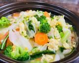 Soup Mix Vegetables with Egg langkah memasak 6 foto