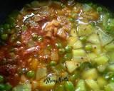 Sweet potato bottlegourd peas and capsicum sabji recipe step 4 photo