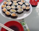Nasi Gulung Salmon langkah memasak 4 foto