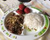 Beef teriyaki Wijen langkah memasak 4 foto
