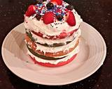 White Butter Cake with Patriotic Stripes recipe step 11 photo