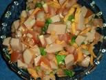 Foto del paso 3 de la receta Nachos con salsa mexicana y salchicha