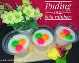 Cemilan & Jajanan Rainbow~Puding Susu Bola Rainbow langkah memasak 5 foto