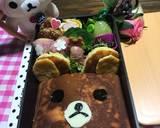 Hot cake rilakkuma bento (bekal anak) langkah memasak 10 foto