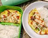 Kornet Keju Dadar Telur. (Bekal sekolah anak) langkah memasak 3 foto