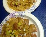 Ramen noodles pork and green bean stirfry recipe step 9 photo