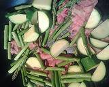 Sweet and sour trotters with asparagus and zucchini recipe step 3 photo