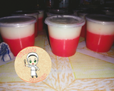 Puding merah putih horee langkah memasak 5 foto