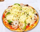 Pizza langkah memasak 6 foto