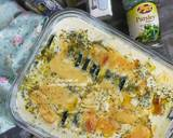 Creamy Baked Zucchini Potato Gratin langkah memasak 6 foto