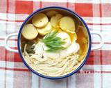 Sundubu Jjigae (sup tahu pedas Korea) langkah memasak 4 foto