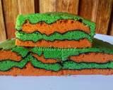 Cake Peta/Cake Alunan Kasih/Topo Map Love Cake langkah memasak 14 foto