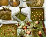 Greentea Brownies langkah memasak 9 foto