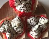 Bolu kukus motip buah Naga tanpa soda langkah memasak 7 foto