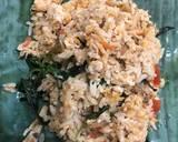 Pepes Nasi Ayam Tahu / Nasi Bakar langkah memasak 4 foto