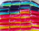 Kue lapis colorful langkah memasak 9 foto