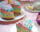 Unicorn MilleCrepes / Unicorn Crepes Cake langkah memasak 12 foto