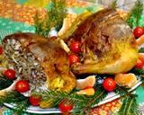 Курица, фаршированная блинами с начинкой - 5 фото