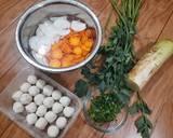Sup Lobak Bakso Ikan langkah memasak 1 foto