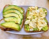 Eat clean: Bánh mì kẹp bơ, trứng gà bước làm 1 hình