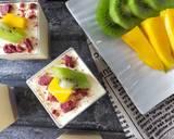 Unbaked Mango Cheese Cake (No Egg, No Gelatin) langkah memasak 8 foto