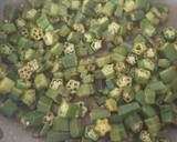 Dry okra curry(bhindi) recipe step 4 photo