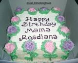 Cake Hias Bunga Rose (base cake sponge cake) langkah memasak 10 foto