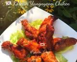 Korean yangnyeom spicy chicken langkah memasak 10 foto