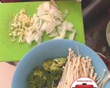 Sapi saus tiram cah brokoli enoki lezat sehat #homemadebylita langkah memasak 1 foto