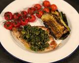 Swordfish steaks with Salsa verde and grilled veg