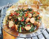 Cah Kangkung dan Bakso Ayam Saus Tiram langkah memasak 4 foto