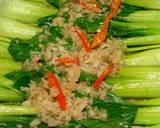 Tumis Pokcoy Bawang putih saus tiram langkah memasak 5 foto