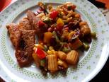 Afrikai harcsa mexikói zöldségkeverékkel recept lépés 1 foto