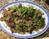 Thịt bò xào rau cải bước làm 4 hình