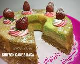 Chiffon cake 3 rasa (pandan,coklat,vanilla) #Rabubaru langkah memasak 9 foto
