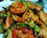 Oseng Pare Udang langkah memasak 2 foto