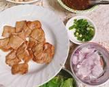 ราชินีเริงน้ำตก 💃 Beauty & the beast salad 👸 🦁 / น้ำตกมังคุดหมูปิ้ง วิธีทำสูตร 2 รูป