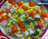 Soup segar orak arik telur ayam sayur langkah memasak 1 foto