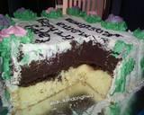 Cake Hias Bunga Rose (base cake sponge cake) langkah memasak 11 foto
