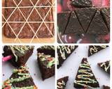 Brownies Christmas Trees langkah memasak 7 foto
