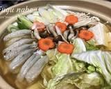 Niiyama Fugu nabe langkah memasak 2 foto