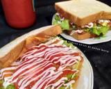 Patty Ayam krispi,isian burger langkah memasak 5 foto