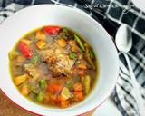 Sayur asem asem daging ayam langkah memasak 4 foto