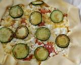 Feta, smoked salmon and courgette pie