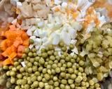 Sałatka jarzynowa z warzyw z rosołu krok przepisu 1 zdjęcie