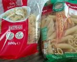 Fusilli oglio olio with cheese and ham langkah memasak 1 foto