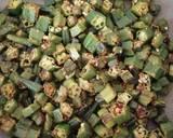 Dry okra curry(bhindi) recipe step 6 photo