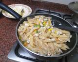 Pasta white Italian dish recipe step 4 photo